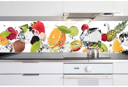 Print pe sticla Food Style - Happy fruits